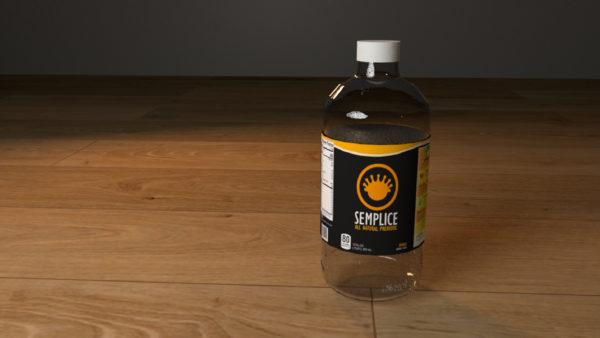 A 3D rendering of a Greek yogurt drink