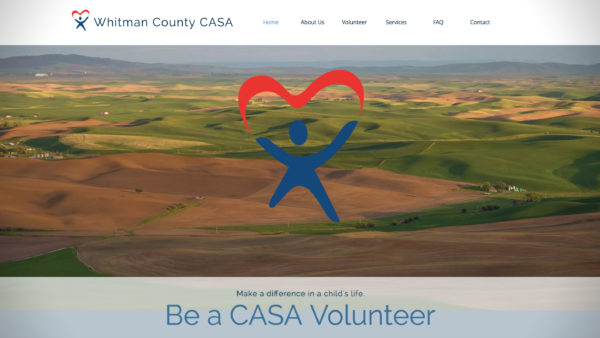 Screenshot of Whitman County CASA