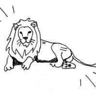 lion doodle by Noelle