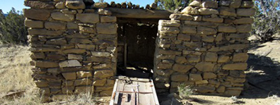 Historic homestead in Western New Mexico