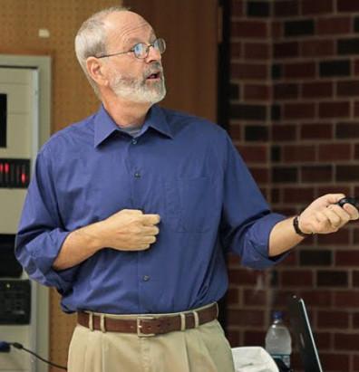 Elliott Sober giving presentation