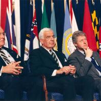 Foley with President Clinton