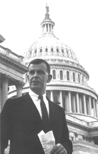 Thomas S. Foley in front of domed building