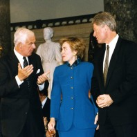 Foley with the Clintons 1993