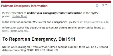 mywsu emergency info