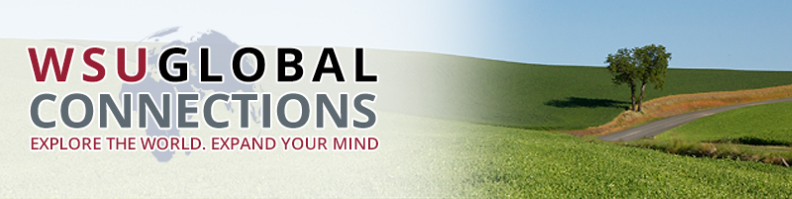 placeholder image - WSU global connections logo over screened globe, pastoral background