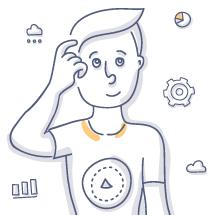 Image: Doodle of man thinking