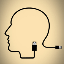 Image: Head shape made out of USB cord