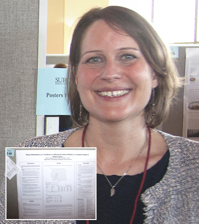 WSU Global Campus student (and Crimson Award winner) Rebecca Podszus presenting her research, October, 2017.