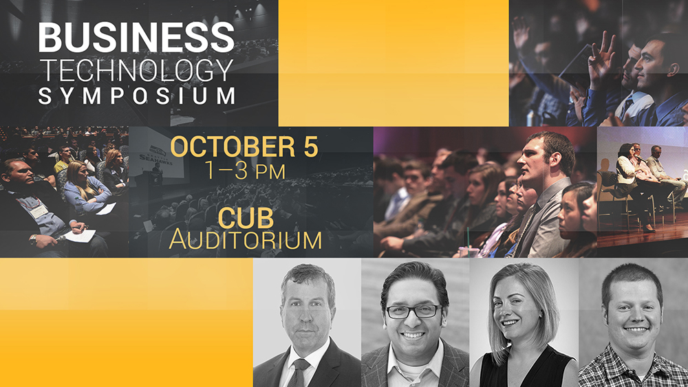 Business Technology Symposium October 5, 1-3 pm, CUB Auditorium.