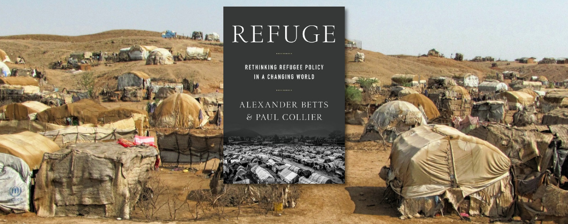 Photo: Book cover - Refuge: Rethinking Refugee Policy in a Changing World by Alexander Betts and Paul Collier.
