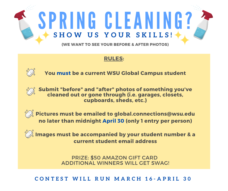 Photo: Promotional flyer for spring cleaning contest