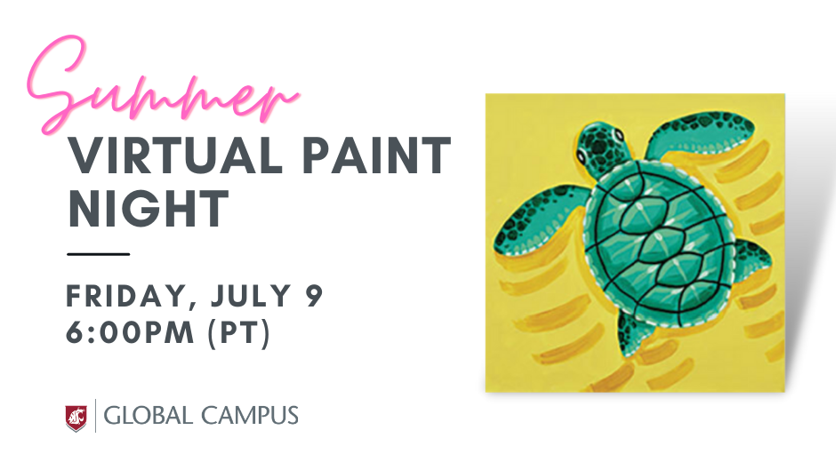 Canvas featuring a green turtle on a yellow background.