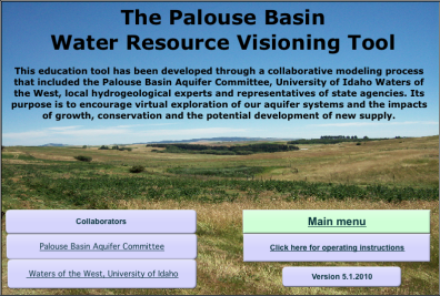 Palouse Basin Water Resource Visioning Tool