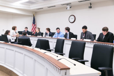 House and Senate Interns participate in Mock Committee Hearings, 31st Day of Legislative Session