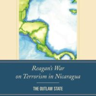 "Detail of book cover ""Reagan's War on Terrorism in Nicaragua; The Outlaw State."""