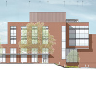 architectural drawing of DCB, west side