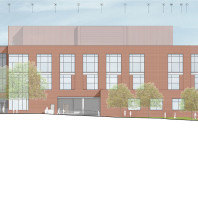 architectural drawing of DCB, north side