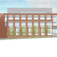 architectural drawing of DCB, south side
