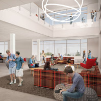 artist's rendering of DCB interior, lounge