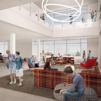 artist's rendering of DCB interior, lounge