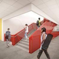 artist's rendering of DCB interior, active area