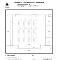 classroom floor plan layout -- room 212