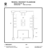 Room 223 - Classroom layout floor plan