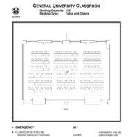 Room 227 - Classroom layout floor plan