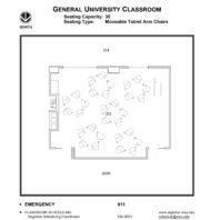 Room 233 - Classroom layout floor plan