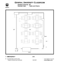 Room 323 - Classroom layout floor plan