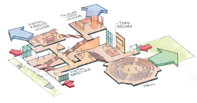 artist's rendering of The Spark's floor plan