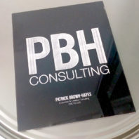 Acrylic portfolio for PBH Consulting, Patrick Brown-Hayes