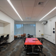 Photo: Collaboration space seating.