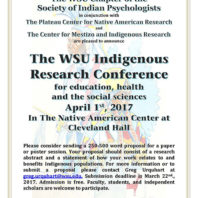 Indigenous Research Conference 2017 Flyer