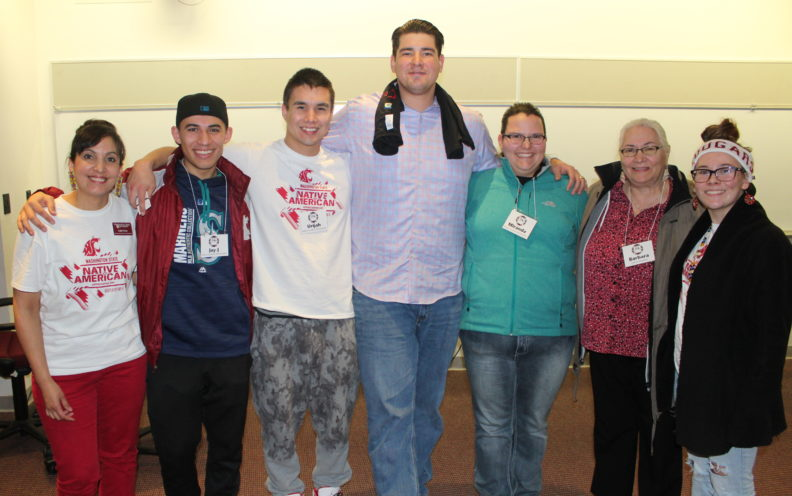 Levi Horn with WSU Native Programs staff and students