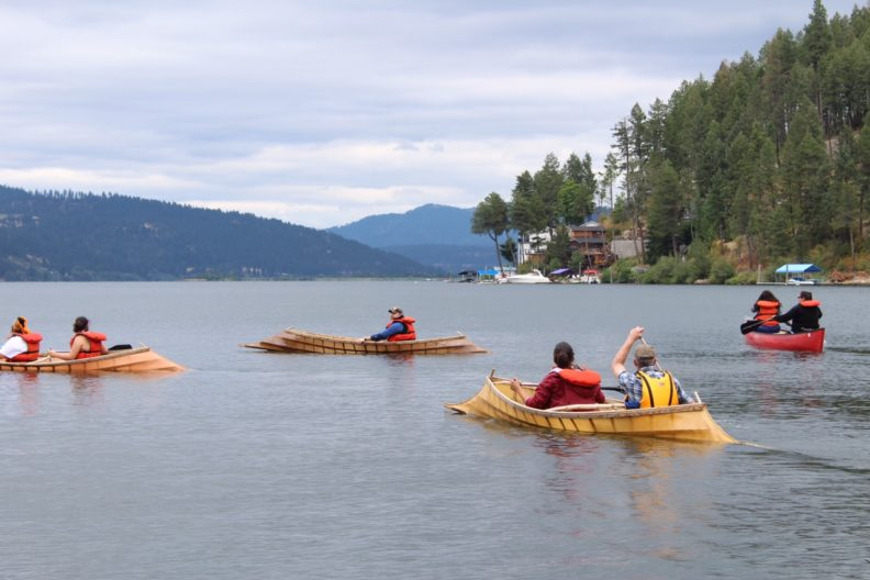 canoes on lake coeur d'alene