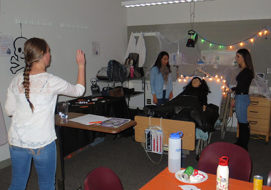 93599e1486 The Halloween Sim at the Yakima campus is a fun annual event and provides  Nursing students an opportunity to practice as well as learn some helpful  clinical ...