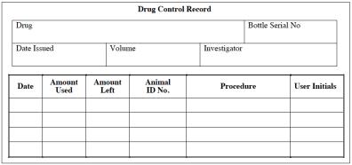 Drug Control Record