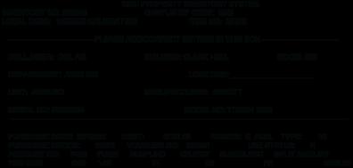 WSU Property Inventory Card