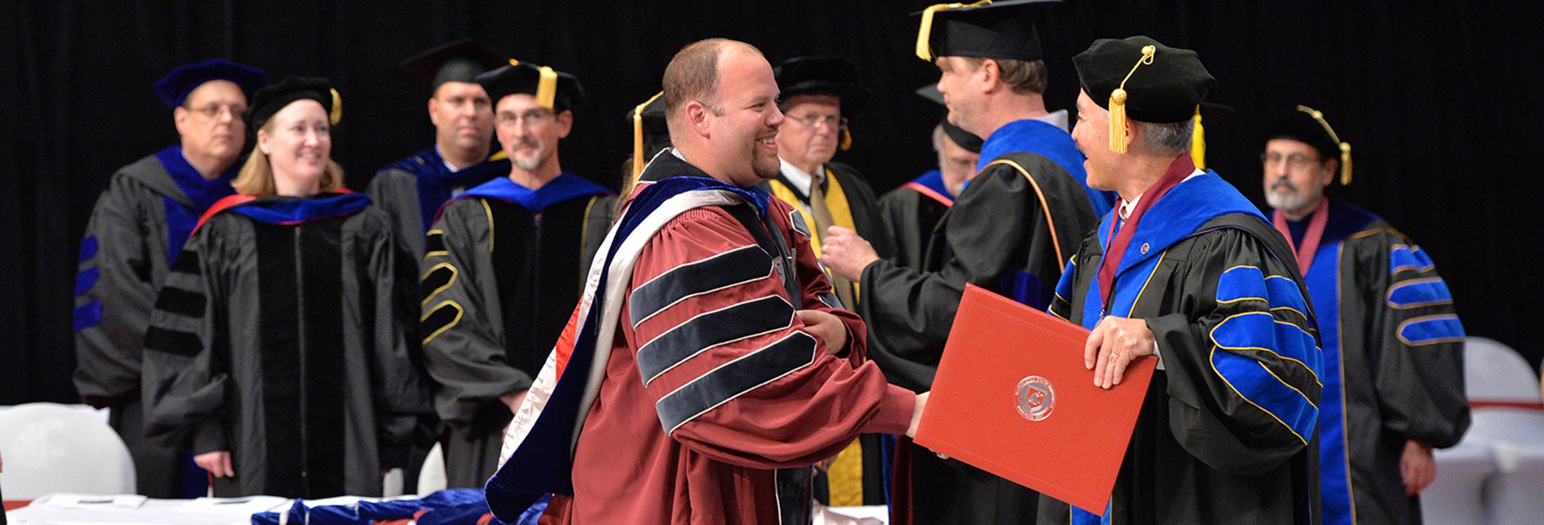 PhD receiving degree