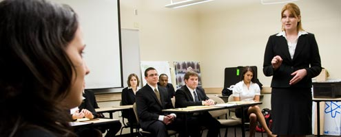 WSU's Mock Trial team prepares for competition.