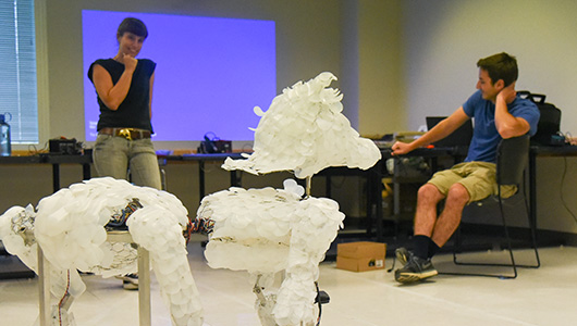 Huminal robot sculpture