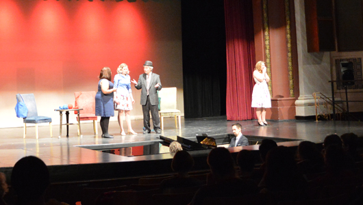 singers perform musical theater on stage