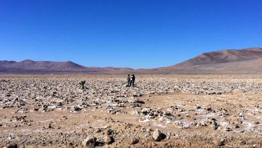 Researchers in the Atacama Desert