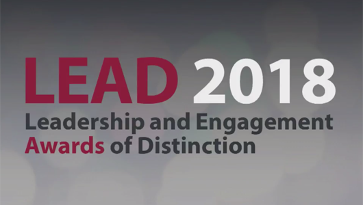 LEAD award title slide
