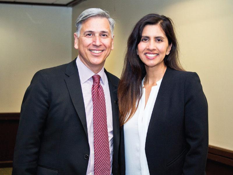 Chancellor Mel Netzhammer with Natalie Ewing