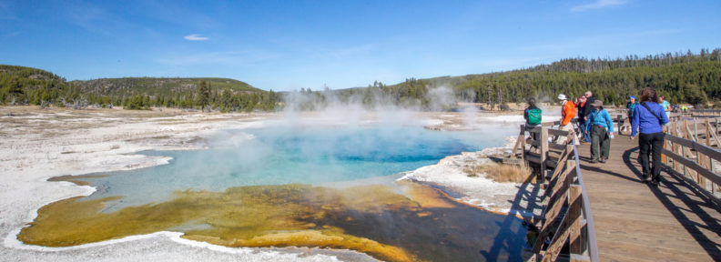 Hot springs at Yellowstone National Park