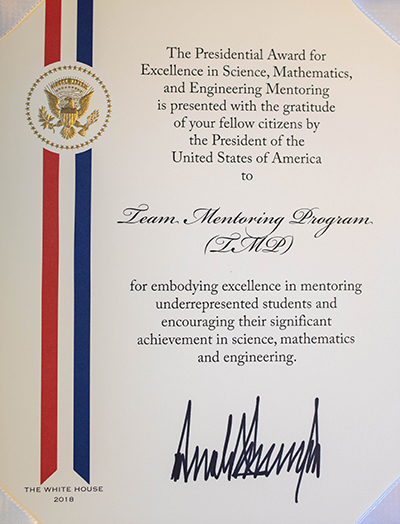 Presidential Award for Excellence in Science, Mathematics and Engineering Mentoring