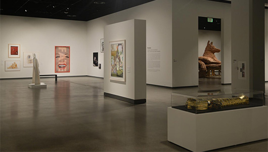 Image of the gallery in the Schnitzer Museum